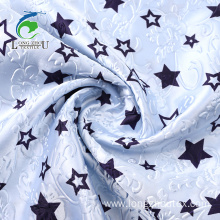 Emboss Rotary Print Polyester Satin Fabric
