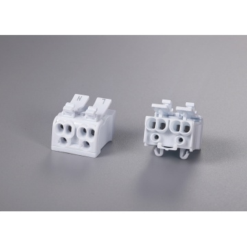 2 Poles Multipolar Wire Connector With Release Button