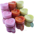 V shape top frost pillar candle with scent