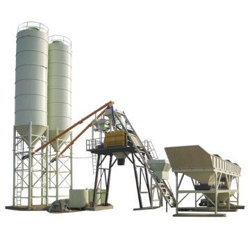 mini high quality hzs75 fixed concrete batching plant
