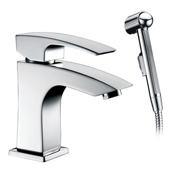 Widespread Bathroom basin Faucet mixer tap with sprayer