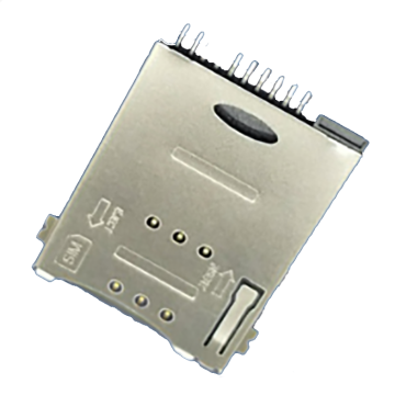SIM Series 8Pin With Boss Front SMT Connector