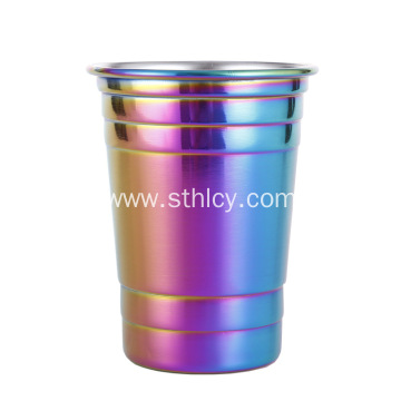 Gradient stainless steel wine glass