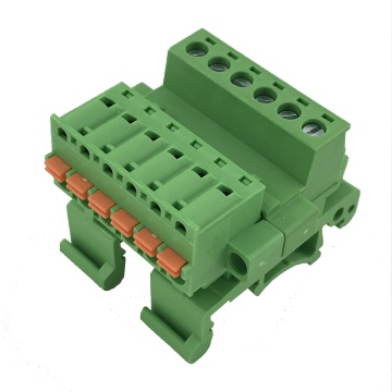 spring female and male din rail terminal block