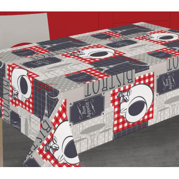 Elegant Tablecloth with Non woven backing Fall Vinyl