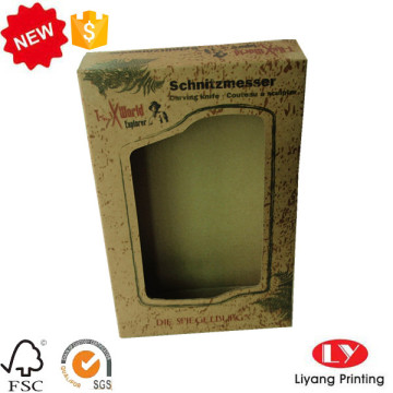 Earphone Packaging Kraft Paper Box with Window
