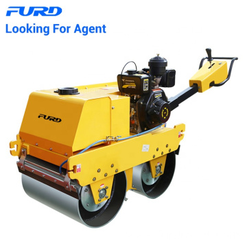 Self-propelled double drum  vibratory road roller roller vibratory sheeps foot compactor FYLJ-S600C