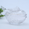 Crystal Glass Fish Shaped Glass Jar For Candy/Food