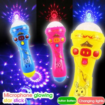 Funny Lighting Toys Kids Jouet Bebe Flash Microphone Model Cute Mini Wireless Music Karaoke Luminous Toys For Baby Model Gift