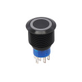 Black Long Life Waterproof 19mm Push Button Switch