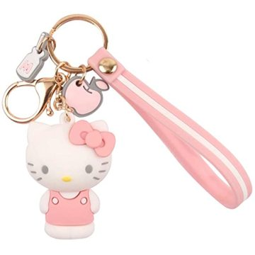 Cartoon Keychain Hello Kitty Womens Purse Charms