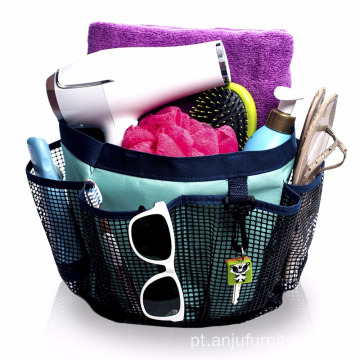 8 Pockets Mesh Hanging Shower Caddies Shower Tote Dorm Caddy - Mesh Shower Caddy
