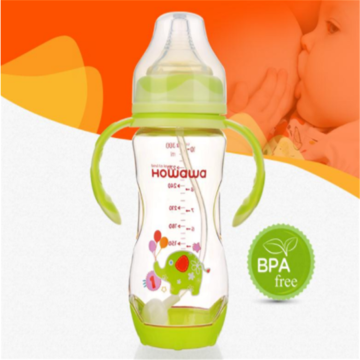 Heat Sensing Baby Nursing Milk Bottle With Handle