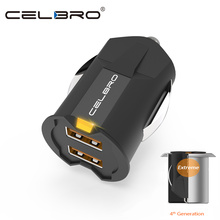 Smallest Mini USB Car Charger Adapter 2 Port Car Usb Chargers Car-Charger Auto Charging Charger 24V For Samsung S10 S9 Cargador