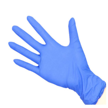 Blue Color Medical Nitrile Gloves