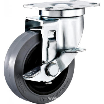 4inch Swivel Anti-static TPR Castors With Side Brake
