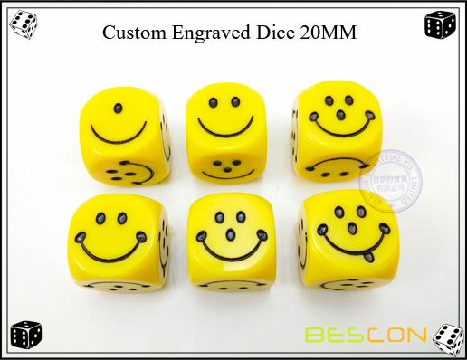 Custom Engraved Dice 20MM