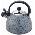 Whistling Tea Kettle Grey marble Stainless steel