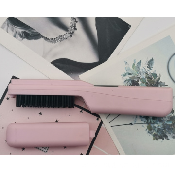Cordless straightening iron brush