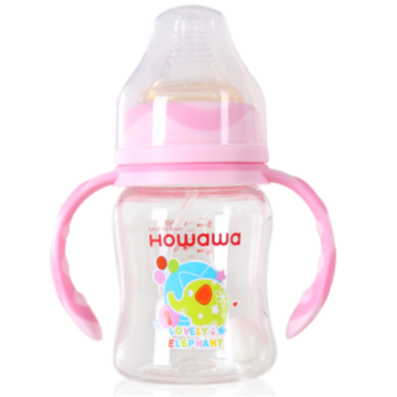Wide Neck Automatic PCTA Feeding Bottle With Handle