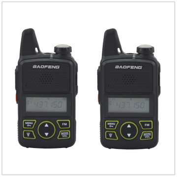 2pcs x baofeng Mini Walkie Talkie BF-T1 UHF 400-470MHz 1W 20CH Small Mini Portable Ham FM Two-way Radio With Earpiece
