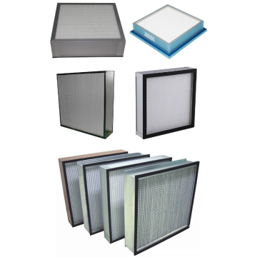 Large air flow pleated panel hepa filter