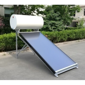 Solar water heater with enamel tank