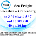 Shenzhen Professional Forwarder Shipping to Gothenburg