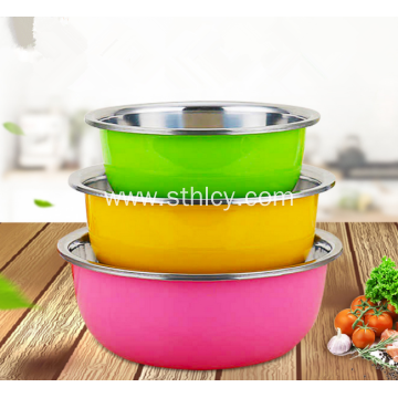 Stainless Steel Colorful Mixing Basin