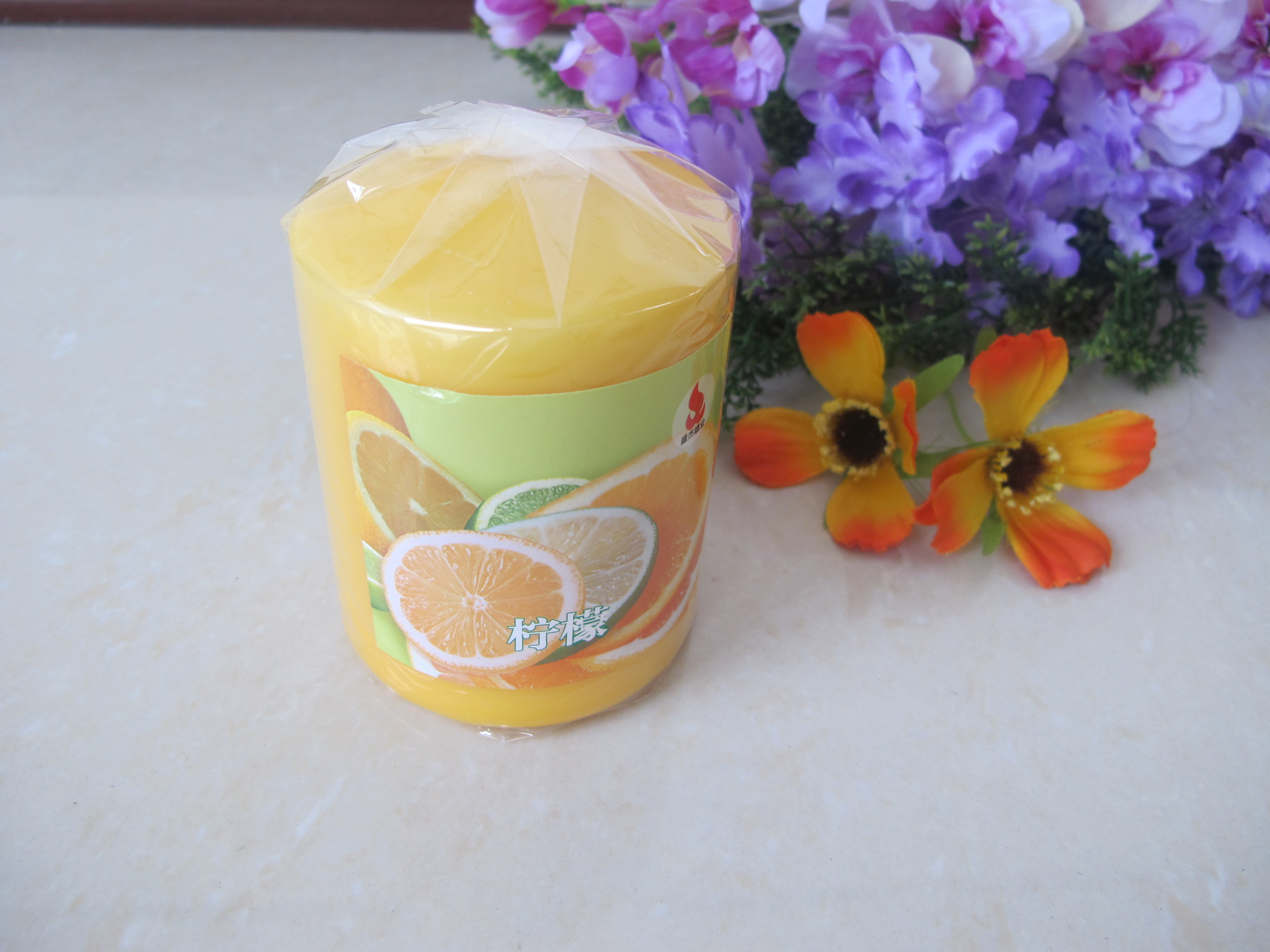 Orange Scented Pillar Candle