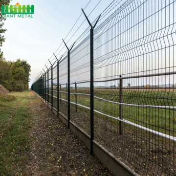 High Security Airport Fence with Razor Barbed Wire