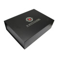 Custom Printed Black Matte Magnetic Shoes Packaging Box