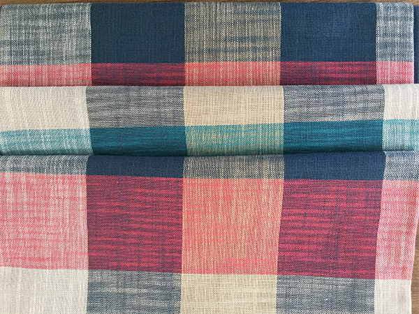 Fashion Plaid Color Bamboo Cotton Fabric