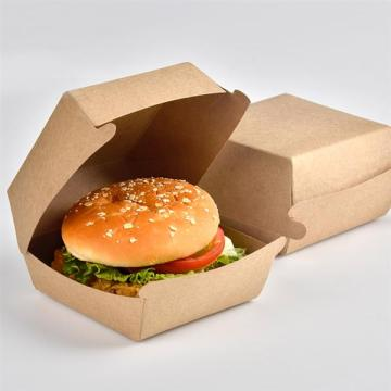 Large Disposable Takeaway Cardboard ClamShell Burger Boxes