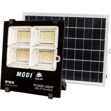 60W solar powered motion detector flood lights