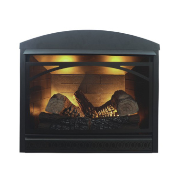 fireplace with gas heater