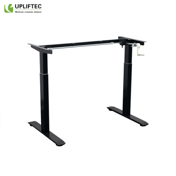 Manually Hight-Adjustable Sit-Stand Desk Frame