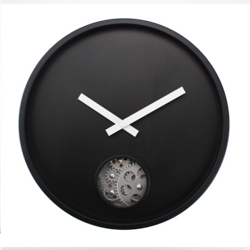 Reloj de pared colgante Black Gear