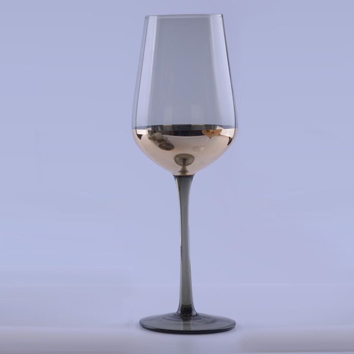 giftware Gray Gold Plated Glass Champagne Flutes