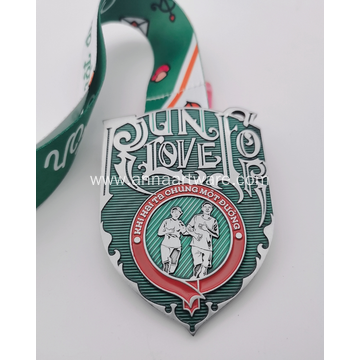 Custom 2021 Green Epoxy Enamel Valentine Day Medal