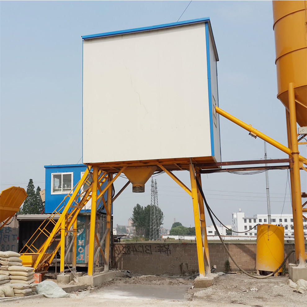 Performance 25m3/h cement mini concrete batching plant