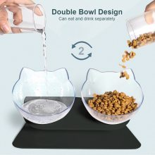 Non-Slip Pet Double Bowl Cervical Protection Pets Water Food Pot for Cats Dog Pet Supplies Dogs Animals Feeding Supplies Handy