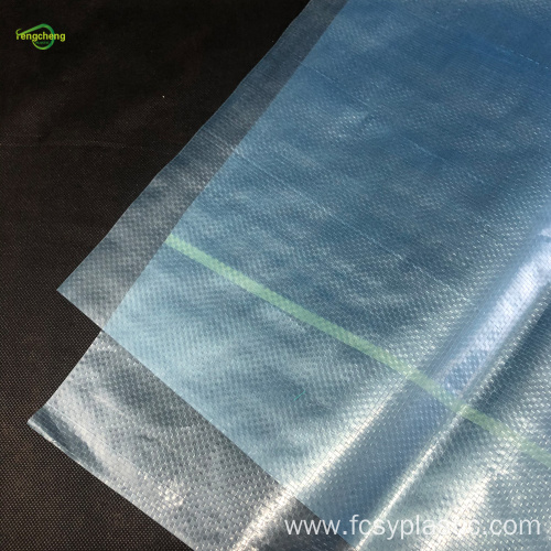 200micron blue transparent woven film