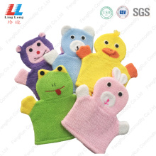 Animal Microfiber absorbent bath gloves