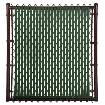 galvanized and plastic coated decorative chain link fence