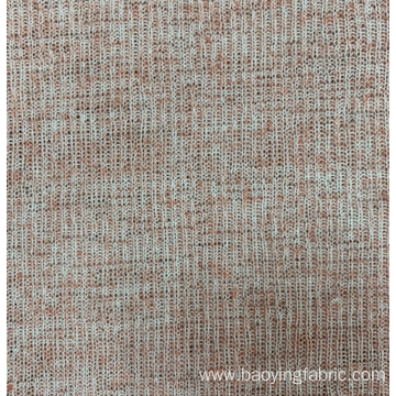 Polyester Hemp Coarse Needle Rib Fabric