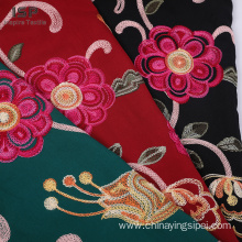 100% viscose dyed with embroidery