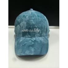 Tie-Dyed Fabric Embroidery Fashion Golf Cap