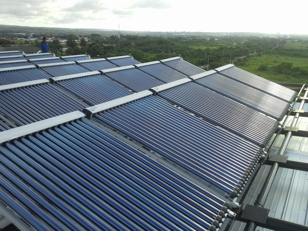 Blue Flat Plate Solar Collector