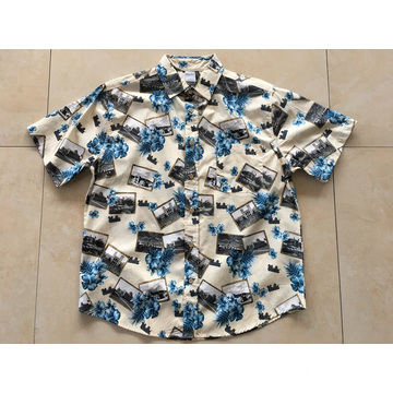 100% Cotton Printing Hawaii Shirt